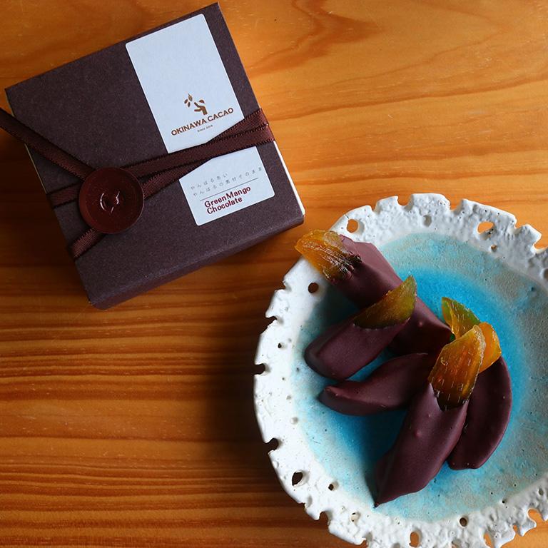 青マンゴーのチョコレート